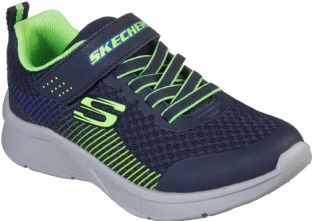 Skechers Kids 97535L NVLM Navy Lime Microspec Gorza Trainers